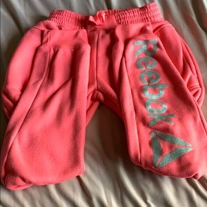 HOT PINK REEBOK SWEATPANTS